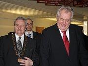 Prezident Miloš Zeman v Duze