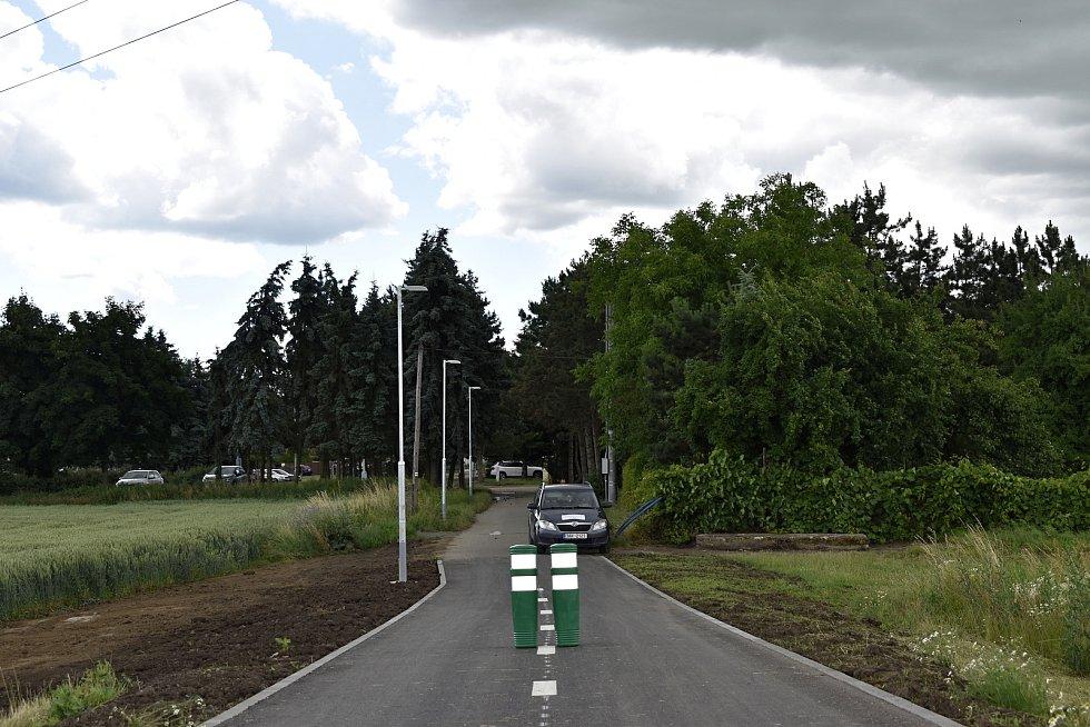 Cyklolávka za 14,5 milionu korun nad severním obchvatem Prostějova. 19.7. 2021