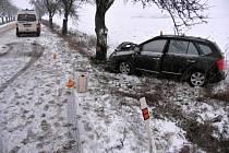 Následky nehody mezi Prostějovem a Němčicemi nad Hanou