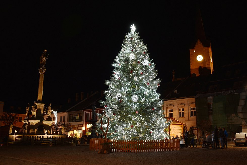 Vánoční strom v Mohelnici.