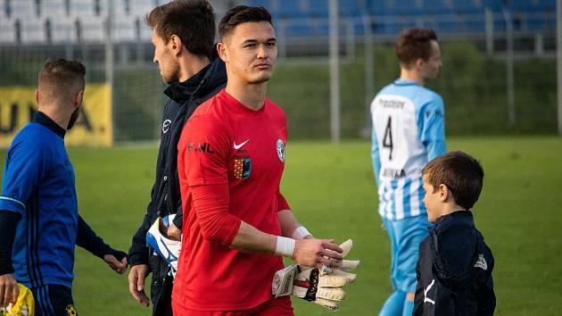 Prostějovský gólman Patrik Le Giang