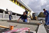 Výstavba nového fotbalového areálu v Prostějově