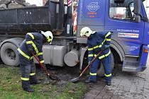 Nehoda v prostějovské Dolní ulici.