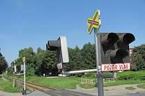 Nebezpečný přejezd v Olomoucké ulici v Prostějově