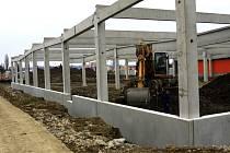 Stavba nákupního parku u prostějovského OBI