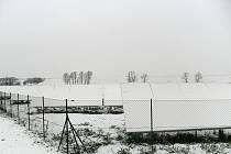 První sníh v okolí Prostějova - 29. listopadu 2010