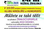 Pozvánka na slavnostní odhalení Žraločí epopeje i s výstavů známých českých kreslířů a humoristů