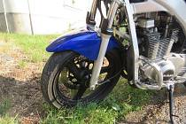 Nehoda motocyklistky ve Vrahovicích