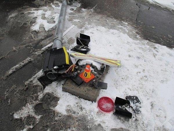 Nehoda na přejezdu vOlomoucké ulici