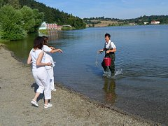 Pátý letošní odběr na Plumlovské přehradě proběhl v pondělí v ranních hodinách