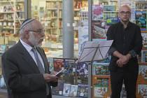 Židovská pietní vzpomínka na prostějovském hlavním nádraží
