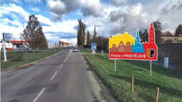 Při příjezdu do Prostějova budou vítat návštěvníky nové uvítací tabule.
