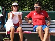 Mistrovství světa družstev do 14 let v tenisu, Prostějov. Linda Nosková a Daniel Filjo