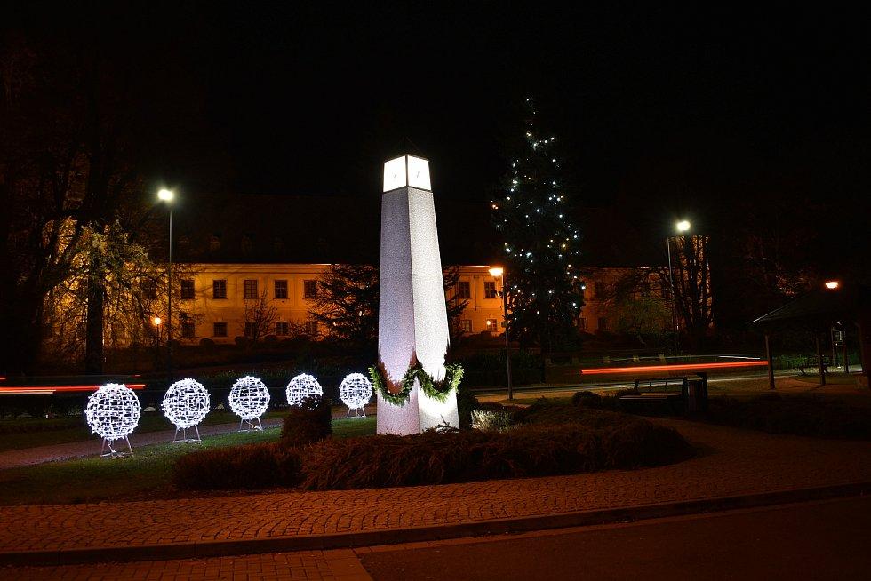 Vánoční strom v Bludově.