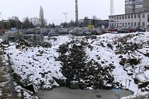 Zasypaná nádrž u prostějovských železáren
