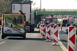 Omezení na dálnici. Ilustrační foto