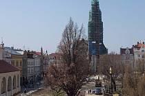 Oprava secesní radnice a náměstí TGM v Prostějově