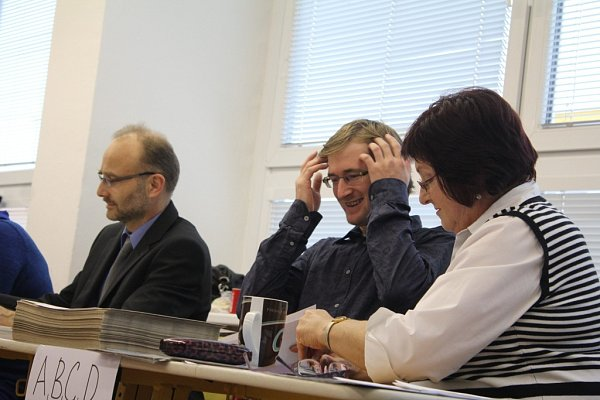 Volby do prostějovského zastupitelstva na Základní škole Melantrichova