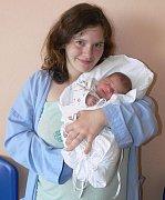 Justýna Janková s maminkou Michaelou, Brodek u Prostějova, narozena 19. května, 45 cm, 3100 g
