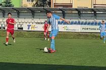 Fotbalisté Prostějova (v modrém) proti Chrudimi.
