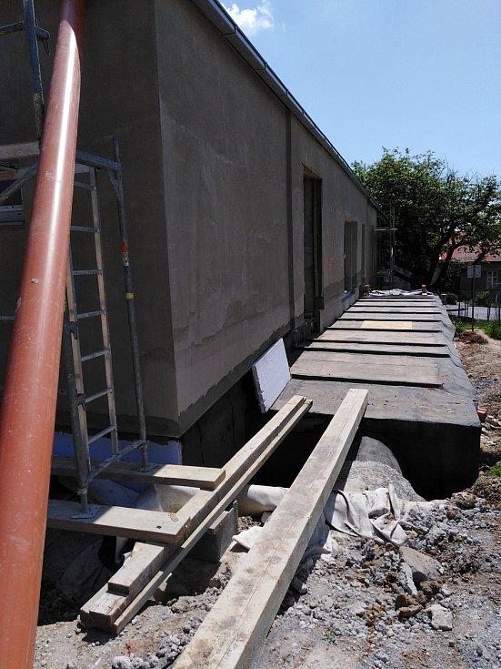 Výstavba komunitního centra v Konici - začátek června 2019