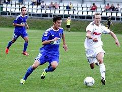 1. SK Prostějov (v modrém) vs. 1. HFK Olomouc