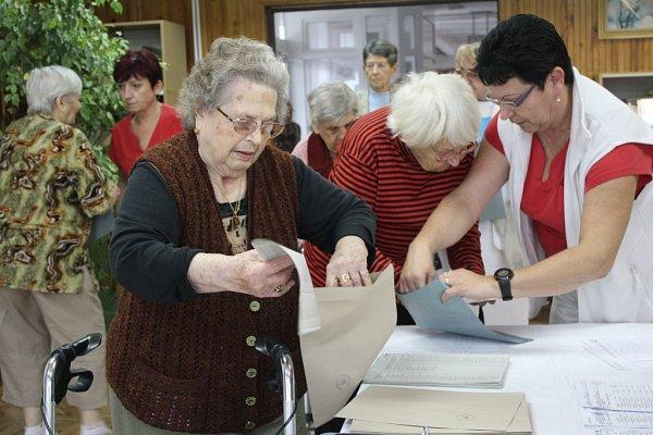 Volby vprostějovském domově důchodců na Nerudově ulici