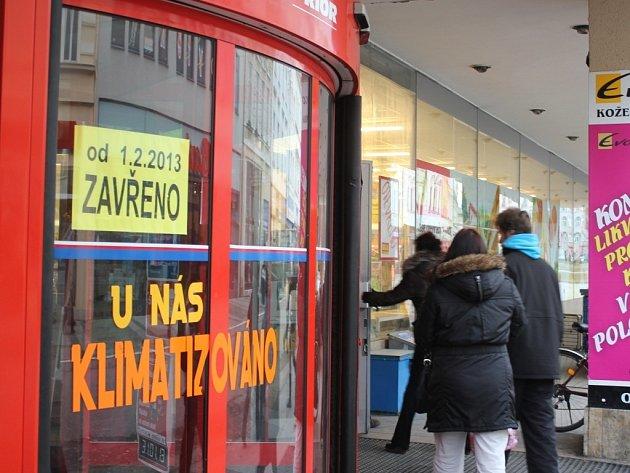 Zavřený Prior v Prostějově, kvůli rekonstrukci