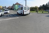 Nehoda na křižovatce ulic Olomoucká a Fibichova v Držovicích