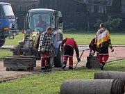 Úpravy sportovního areálu v Kostelci na Hané