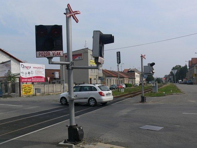 Přejezd v Olomoucké ulici