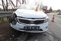 Nehoda na sjezdu z dálnice D46 v Prostějově