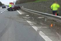 Nehoda na D46 u Vranovic-Kelčic - 25. dubna 2021