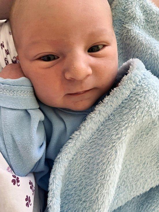 Daniel Tylich, Přerov, narozen 29. dubna 2021 v Přerově, míra 50 cm, váha 3550 g