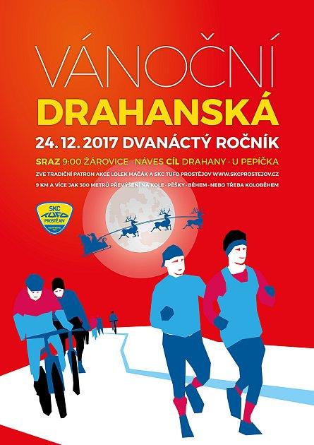 VÁNOČNÍ DRAHANSKÁ - DVANÁCTÝ ROČNÍK. Již po dvanácté se vydají sportovci na vrchol drahanského kopce.