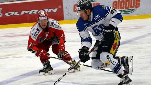 Utkání Prostějova (v červeném) proti Havířovu.