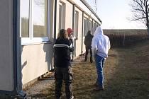 Azylový dům v Prostějově v zimním mrazivém období