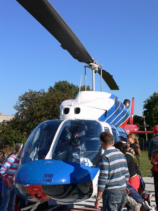 Slavnostní otevření heliportu v Protivanově