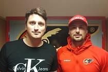 Václav (nalevo) a Radek Meidlovi se znovu sešli v rodném Prostějově.