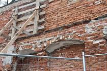 Oprava historických hradeb v centru Prostějova