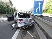 Nehoda kamionu a dvou osobních aut na D46 (druhá nehoda)  - 22. května 2018