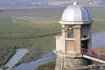 Vypuštěná plumlovská přehrada