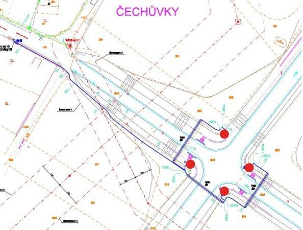 Zvýšení bezpečnosti na křižovatce mezi Čechůvkami a Kralicemi na Hané má pomoct nové osvětlení