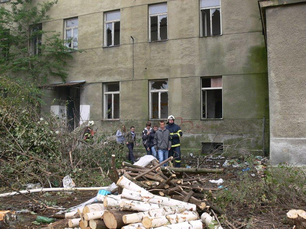 Opuštěná kasárna v Jezdecké ulici v Prostějově. Ilustrační foto