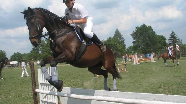 Na koních ve Lhotě u Konice. Ilustrační foto