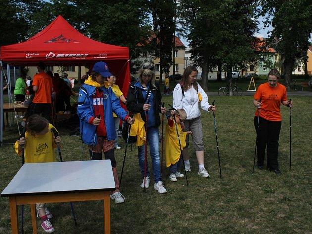 Nordic walking v Prostějově. Ilustrační foto