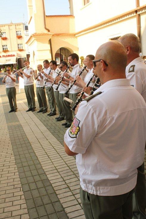 Promenádní koncert Olomoucké posádkové hudby v Prostějově