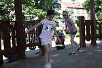 Dětský den s knihovnou ve Smetanových sadech v Prostějově
