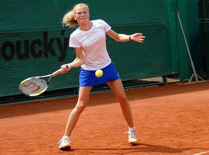 Česká tenistka Kateřina Siniaková v utkání ČR – Čína