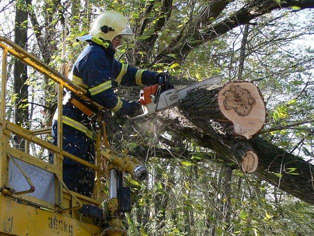 Hasiči zasahovali u několika polámaných stromů.